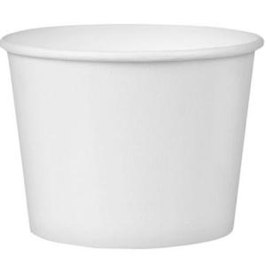 Posodica papirnata 245ml d = 93 mm, h = 55 mm, bela (25 kos/pak)