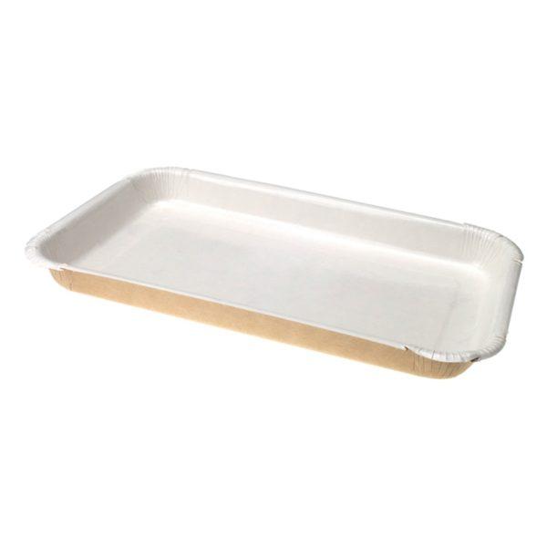 Pladenj papirnati ECO PLATTER 400 ml 220x140x20 mm (s stranicami)