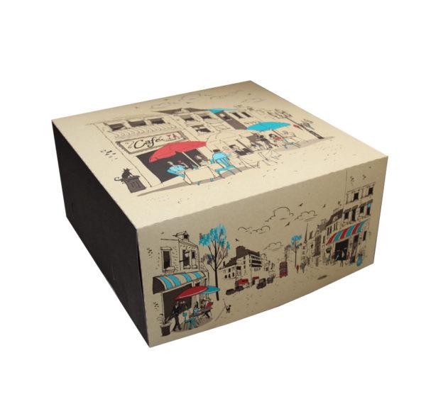 Škatla za torto 300х300mm 2kg Randevu (dno+pokrov) 100 kos