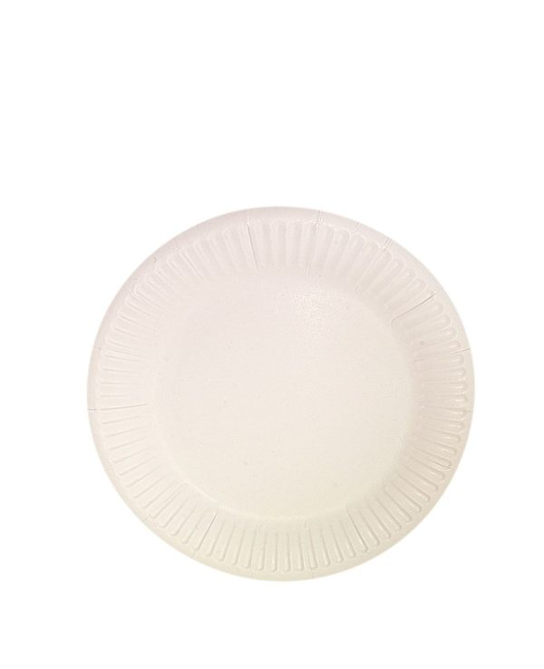 Papirnata plošča d = 230 mm Snack Plate, bela biolaminirana (100 kos/pak)