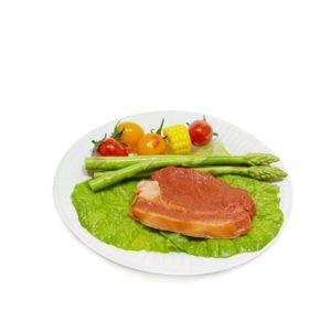 Papirnat krožnik d=180 mm Snack Plate bel biolaminiran (100 kos/pak)