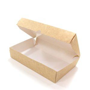Papirnata posodica Meal Box 1000 ml 200x120x40 mm kraft (50 kos/pak)