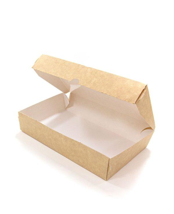 Skatla od papirja Meal Box 1000 ml 200x120x40 mm, Kraft (50 kos/pak)