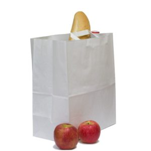 Papirnata vrečka 320x200x370 mm Kraft, z ravnimi ročaji