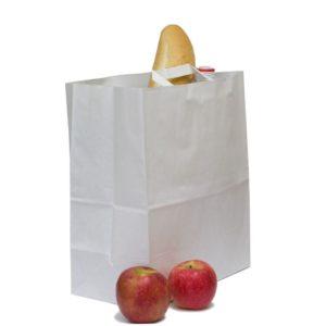 Papirnata nosilna vrečka z ravnim ročajem 320x200x370 mm kraft (200 kos/pak)
