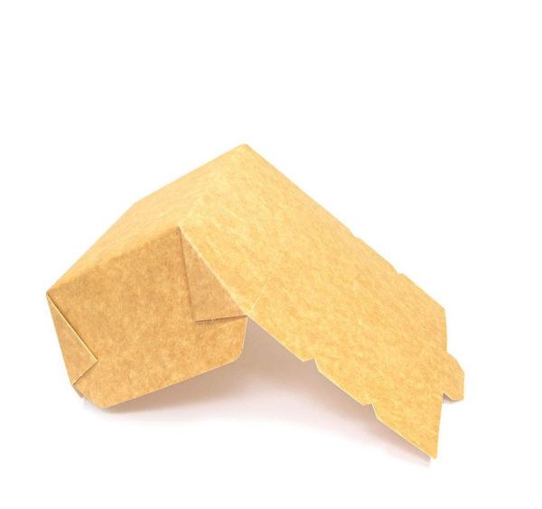 Papirnata posoda Lunch2Go 600 ml 150x115x50 mm kraft (90 kos/pak)