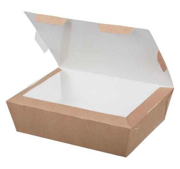 Papirnata posoda Lunch2Go 1000 ml 190x150x50 mm kraft (80 kos/pak)