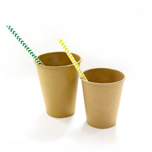 Kozarec papirni 1sl 250 (273) ml d = 80 mm Kraft / Kraft (50 kos/pak)