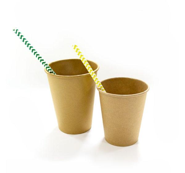 Papirnat kozarec 250 ml d=80 mm 1-slojni kraft/kraft (50 kos/pak)