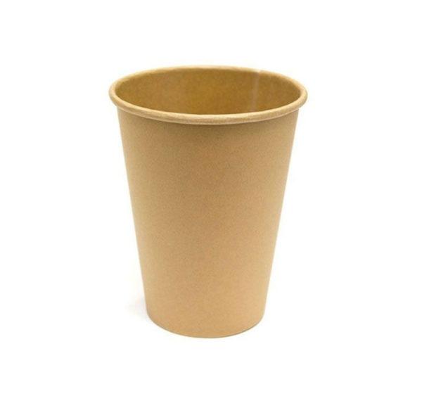 Kozarec papirni 1sl 300 (364) ml d = 90 mm Kraft / Kraft (50 kos/pak)