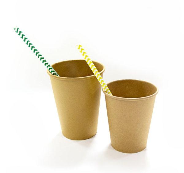 Kozarec papirni 300 ml d=90 mm 1-slojni kraft/kraft (50 kos/pak)