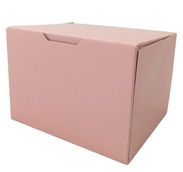 Škatla za sladico 140x120x100 mm roza (150 kos/pak)