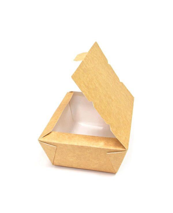 Papirnata skatla Lunch2Go 1000 ml 190x150x50 mm kraft (80 kos/pak)