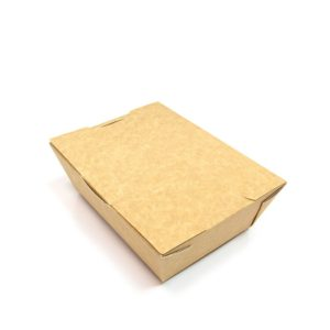 Papirnata skatla Lunch2Go 1000 ml 190x150x50 mm kraft (80 kos/pak)