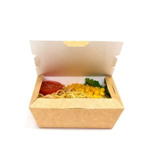 Posoda papirnata (lunch box) Lunch2Go 600 ml 150x115x50 mm, Kraft (90 kos/pak)