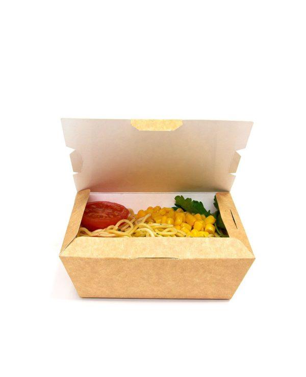 Posoda papirnata (lunch box) Lunch2Go 600 ml 150x115x50 mm, Kraft (90 kos/pak)