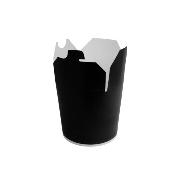 Papirnata posoda za WOK 450 ml črna (50 kos/pak)