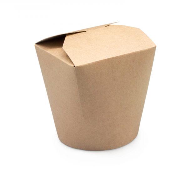 Papirnata posoda za WOK 750 ml kraft (50 kos/pak)