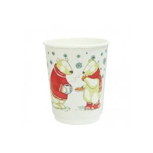 Papirnat kozarec 250 ml d=80 mm 2-slojni Beli Medved