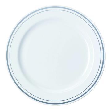 Pladenj Sabert PS d=23 cm beli s srebrno obrobo