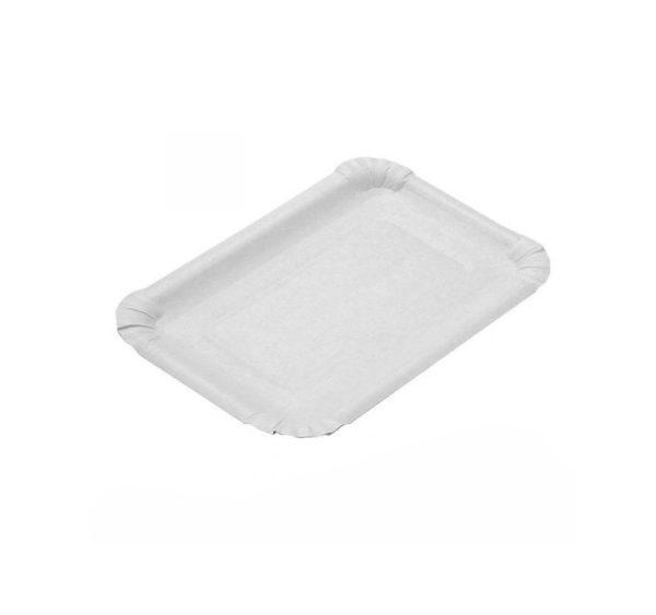 Papirnat krožnik 110×170 mm bela, glaziran (2400 kos/pak)