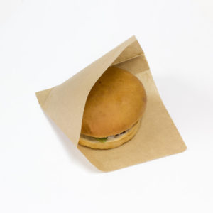 Vrečka za hamburger SANDWICH BAG M 140x145x30mm