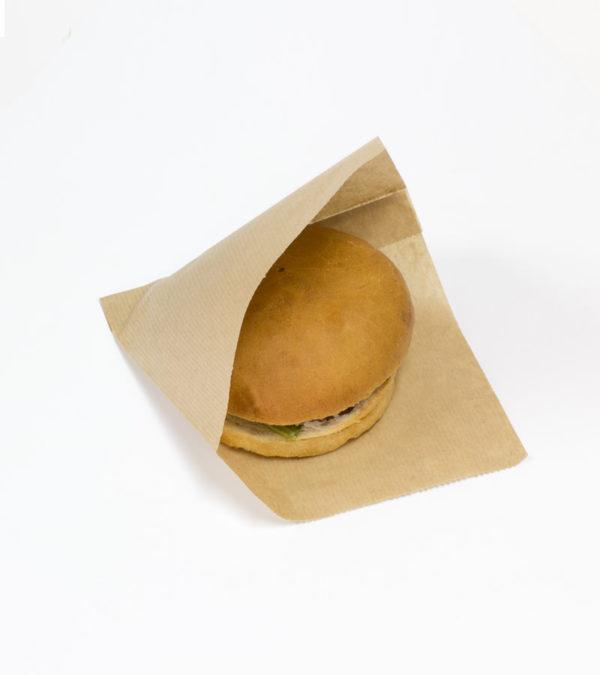 Vrečka za hamburger SANDWICH BAG M 140x145x30mm
