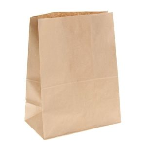 Papirnata vrečka 120 х 80 х 245 mm kraft (500 kos/pak)