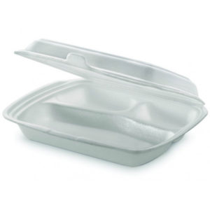 Lunch box 3-delna 250 x 210 x 65 mm (100 kos/pak)