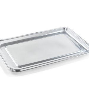 Pladenj Sabert 35x16cm srebrn s pokrovom, 50 kos (komplet)