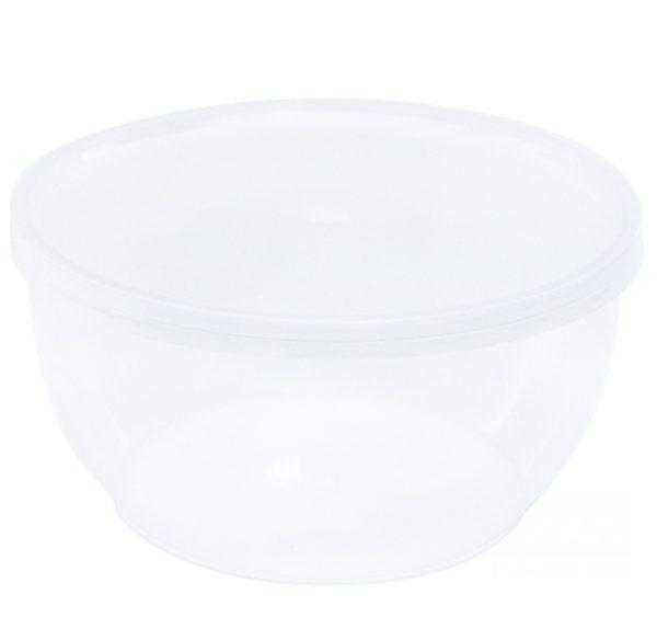 Posoda za delikateso s pokrovom 360 ml d=112 mm h—55 mm, 50 kos (komplet)
