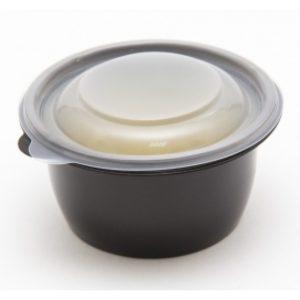 Okrogla posodica s pokrovom PP 500 ml črna, 100 kos (zbirka)