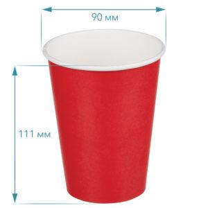 Papirnat kozarec 300 ml d=90 mm 1-slojni rdeč (50 kos/pak)