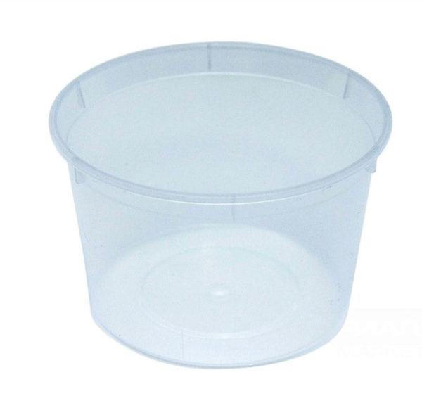 Posodica za omake PP 250 ml d=96 mm h=56 mm (50 kos/pak)