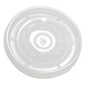 Papirnata posodica za juho s pokrovom 300 ml bela, 500 kos (komplet)