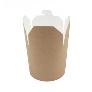 Papirnata posoda za WOK 450 ml kraft (50 kos/pak)