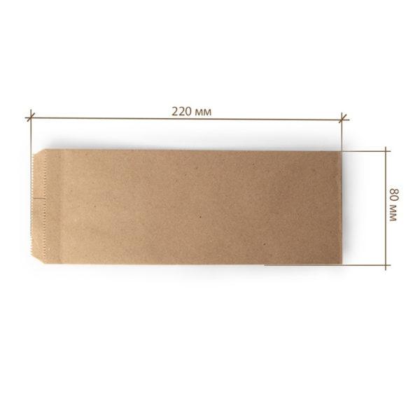 Žepek za pribor 220×80 mm kraft (2000 kos/pak)