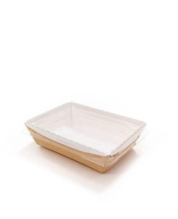 Posoda papirna brez pokrova Crystal Box 500 ml 160x120x45 mm kraft (125 kos/pak)