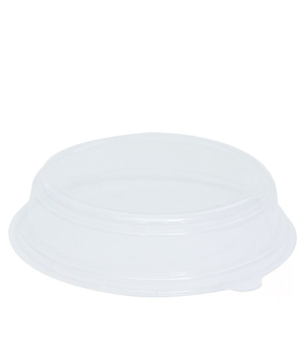 Papirnata posoda s pokrovom, 750 ml, d = 150 mm, h = 67,5 mm, bela, 1500 kos (komplet)