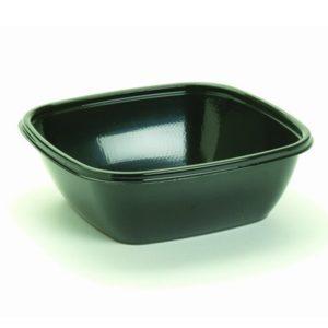 Pravokotna posodica s pokrovom 750 ml črna, 50 kos (komplet)