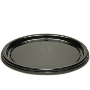 Pladenj d=26 cm črn s pokrovom, 25 kos (zbirka)
