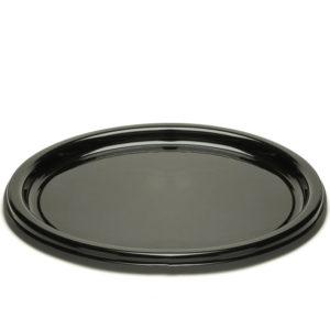 Pladenj d=23 cm črn s pokrovom, 125 kos (zbirka)