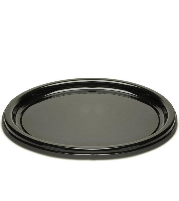 Pladenj d=23 cm črn s pokrovom, 125 kos (komplet)