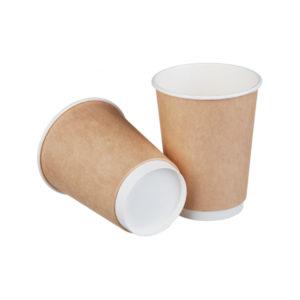 Papirnat kozarec 250 ml d=80 mm 1-slojni kraft (60 kos/pak)
