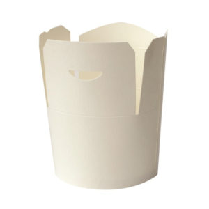 Papirnata posoda za WOK 750 ml bela (50 kos/pak)