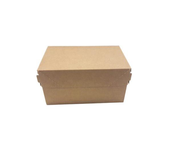 Papirnata škatla ECO CAKE 1200 ml 150х100х85 mm kraft (250 kos/pak)