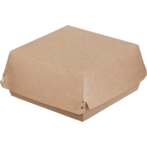 Burger embalaža ECO BURGER L 120х120х70 mm kraft (150 kos/pak)
