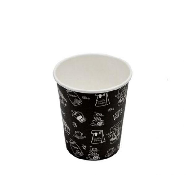 Papirnat kozarec250 ml d=80 mm 1-slojni črn Complement (50 kos/pak)