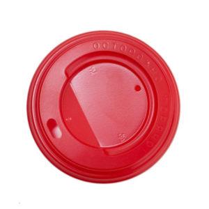 Pokrov z luknjo PS d=80 mm rdeč