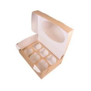 Kutija za muffine s oknom ECO MUF 250x170x100 mm (150 kos/pak)